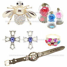 Crystal Rings Leather Bracelet Jewellery Collection Brooches Fashion Necklaces