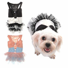 Summer Pet Dog Cat Dress Cotton Mesh Skirt Puppy Wedding Costume Clothes Apparel