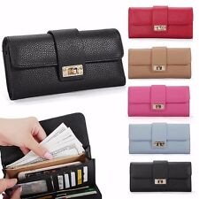 Women Leather Bifold Wallet Clutch Phone Card Holders Purse Lady Long Handbag 9o