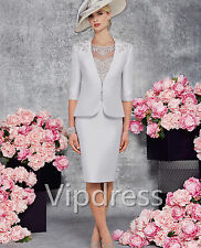 Mother Of The Bride Dresses Lace Applique Dress Suits Formal Party Prom Gowns