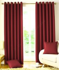 """Wine Burgandy Solitaire Woven Jacquard  Lined Curtains Eyelet Taped 54"""" 72"""" 90"""