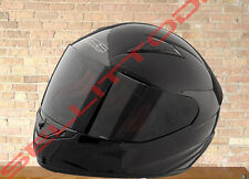 SPEED AND STRENGTH SS1100 Solid Speed Motorcycle Helmet Gloss Black clear sheild