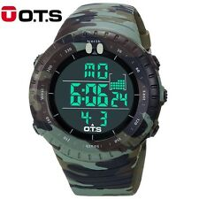 OTS 2017 New Digital Watch Men Sports Watches LED Military Army Camouflage Wrist