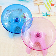"Flying saucer exercise wheel hamster mouse cage toy 5"" small spinner"
