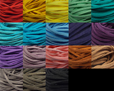 10yd 3mm Suede Cord Faux Leather Lace Stringing Craft Jewelry Assorted Colors