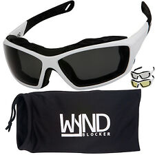 WYND Blocker White Motorcycle Sunglasses Extreme Sports Boating Driving Glasses