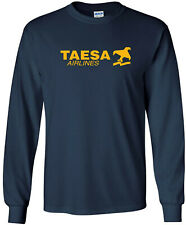 TAESA Vintage Logo Mexican Airline Long-Sleeve T-Shirt
