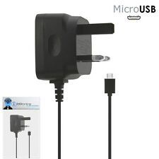 3 Pin 1000 mAh UK MicroUSB Mains Charger for LG L5 Optimus E610