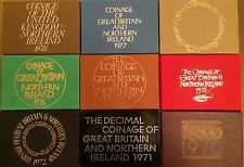 Royal Mint United Kingdom Great Britain & Northern Ireland Proof Coin Year Sets