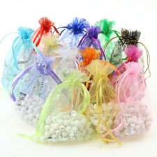20/50/100 Butterfly Organza Jewelry Gift Candy Bags Wedding Party Favor Decor