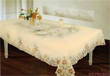 Rive Gauche Harvest Embroidered Tablecloth - Beige