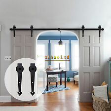 3-20FT Heart Style Sliding Barn Door Hardware Track Kit, Single/Double/Bypass