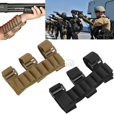 Tactical 8 Rounds Shotgun Shell Holder Carrier Arm Ammo Mag Pouch Ammunition Bag