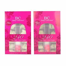 Body Collection Glue On False Nails Short Active Square Stick On Nail Tips 240pk