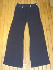ARMANI JEANS LINEN TROUSERS WIDE LEG LIGHT OR DARK BLUE BNWT