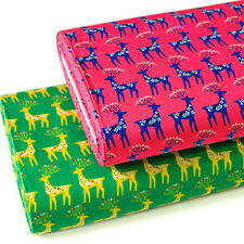 Japanese Fabric Oxford Cotton Fabric Deer From Japan by 1/2 yard