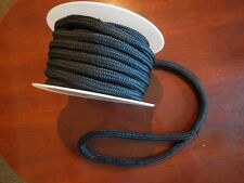 "3/4"" x 50´ BLACK DOUBLE BRAID NYLON BOAT DOCK LINE Top Quality, New on spool"