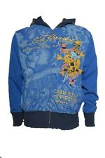 New Ed Hardy by Christian Audigier HOLLYWOOD HOODIE Beautiful ghost blue