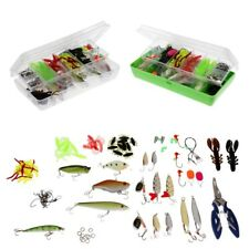 101 Pieces Fishing Lure Tackle Set Silicone Artificial Lure Fly Fishing Tool