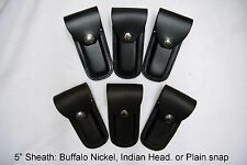 """5"""" Leather Sheath Pocket / Folding Knife Multi Tool Case Pouch Holster USA Made"""