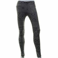 VIGOSS Skinny Leggings Aztec Stretch Made in USA Destructed Gray Pants XS