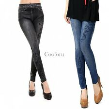 Women Leggings Sexy Skinny Pants Footless Jegging Denim Jean Stretch Tight CO99