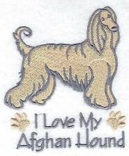 AFGHAN HOUND POLO SHIRT  EMBROIDERED  10 COLOURS 5 SIZES  BNWT