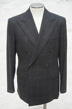 Ralph Lauren Purple Label Double Breasted Suit Wool Charcoal US 42 44 46 48 €4K