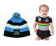 SET OF 2 PENRITH PANTHERS NRL TEAM GIRLS FOOTYSUIT INFANT ROMPER + BABY BEANIE