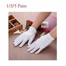 White Gloves Inspection Cotton 1/3/5 Pairs Work Gloves Coin Silver Jewelry thin