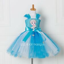 Disney Frozen Queen Elsa Tutu Dress, Handmade Fancy Dress Costume (Lined Top)