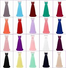 Plus Size Full Length Beaded Formal Party Bridesmaid Dress Cocktail Evening Gown