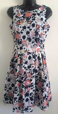 NEW Ex Ladies Multi Floral Print Fit & Flare Summer Casual Day Dress Size 8-16