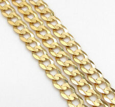 3MM 14K Yellow Gold Cuban Curb Link Chain Necklace – 18-24 Inches