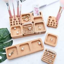 Unfinished Wooden Necklace Earrings Ring Jewelry Storage Display Holder Crafts