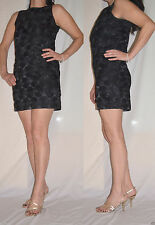 Women Girls Evening-Party Black Mini Dress Floral MK Size 8 and 10