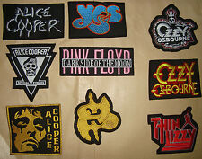 THIN LIZZY OZZY OZBOURNE YES PINK FLOYD SAXON ALICE COOPER Embroidered PATCH