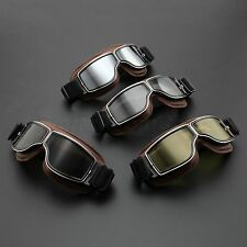 Aviator Pilot Goggles Steampunk Motorcycle Scooter Bike Glasses Outdoor Eyewear