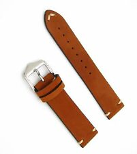 20 22 24mm Man Lady Brown Suede Wrist Watch Leather Band Strap Belt Pin Buckle