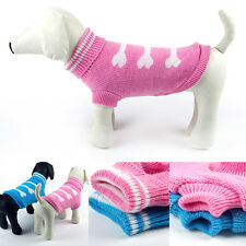 Puppy Pet Dog Cat Winter Warm Knit Coat Clothes Sweater Jacket Apparel Costume