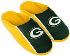 Green Bay Packers NFL Mens Jersey Slide Slipper Adult Sizes