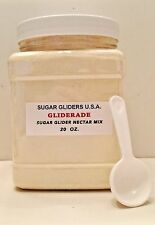 SUGAR GLIDER 'GLIDERADE' NECTAR MIX 12 OZ & 20 OZ JARS-FREE 'MONSTERS U.'  DISH!