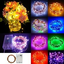 Waterproof 2M-10M Copper Wire Battery LED Fairy String Light Wedding Party Decor