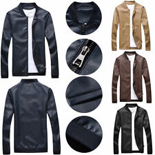 New Men's fashion jackets collar Slim motorcycle leather jacket coat outwear df6