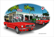 1965 Ford Mustang Convertible Muscle Car Art Print - 10 colors