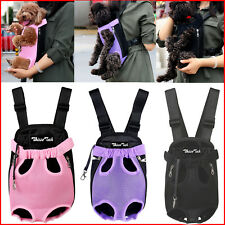 Nylon Mesh Small Pet Dog Cat Puppy Travel Carrier Backpack Front Head Legs Out