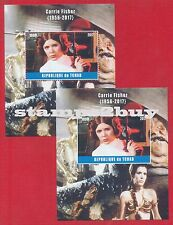 Star Wars PRINCESS LEIA Carrie Fisher 2017 Stamp perf imperf souvenir sheet MNH