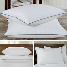 Medium Firm Bed Pillows Standard/Queen & King Size 2 Lot Goose Down Feather New