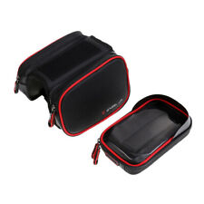 Bike Bicycle Front Tube Bag Frame Pannier PU Waterproof Mobile Phone Pouch Pack