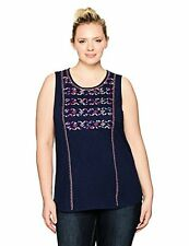 Lucky Brand Women's Plus SZ Geo Embroidered Tank Top - Choose SZ/Color